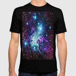 Fox Fur Nebula : Purple Teal Galaxy T-shirt