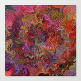 Psychedelic soup Canvas Print