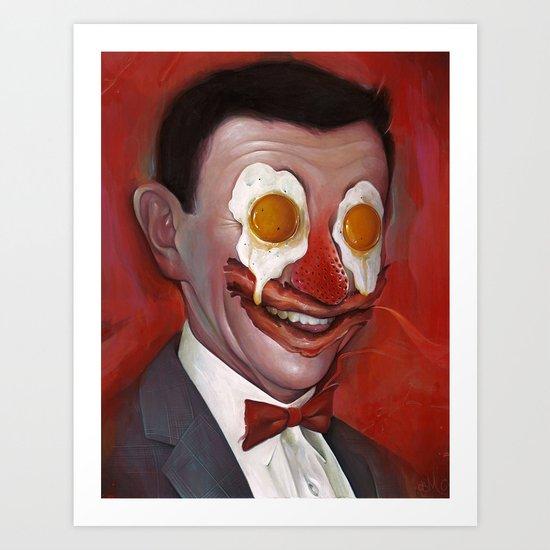 Mr. Breakfast Art Print