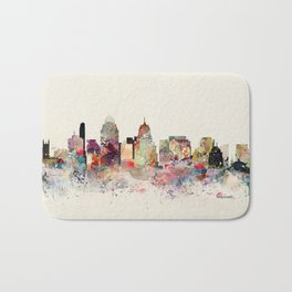 cincinnati skyline Bath Mat