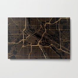 Minneapolis map, Minnesota Metal Print