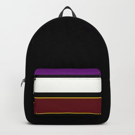 Team colors 2...red,purple.yellow gold Backpack