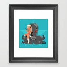 Galaxy Cathulu Framed Art Print
