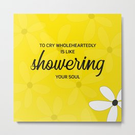 To cry wholeheartedly Metal Print