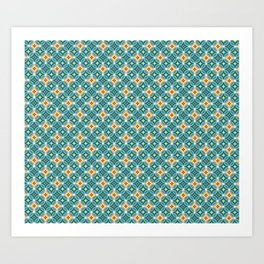 Little Twinks in Green And Yellow Art Print