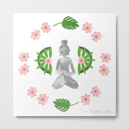 Zen Bali Buddha Metal Print