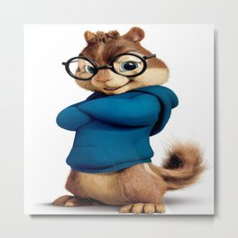 Simon the smartest chipmunk Metal Print
