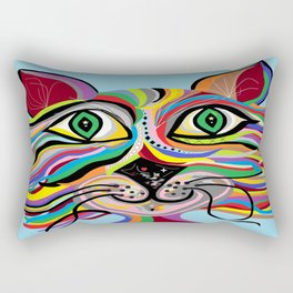 Grinning Cat Rectangular Pillow