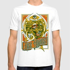 Rise Against band poster for appearance at record store SMALL Mens Fitted Tee White