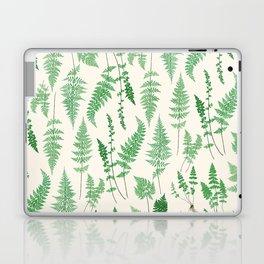 Ferns on Cream I - Botanical Print Laptop & iPad Skin
