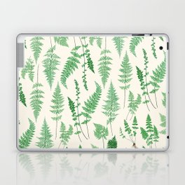 Ferns on Cream I - Botanical Print Laptop & iPad Skin