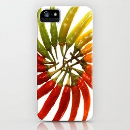 Charleston Hot Peppers Color Wheel iPhone Case