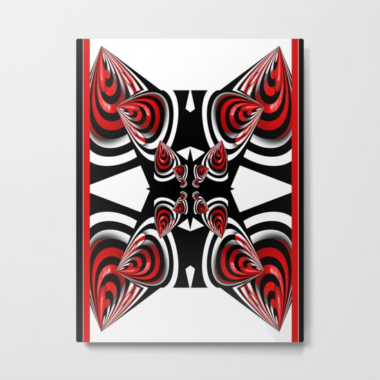 Design in black, red and white Metal Print