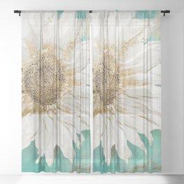 Aqua Paris Sheer Curtain