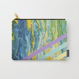 Paint Marble With Pastel Lines Carry-All Pouch
