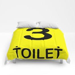 TOILET CLUB #3 Comforters