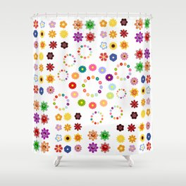 Many Flowers Shower Curtain
