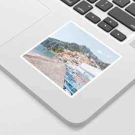 Amalfi Coast Beach Sticker