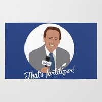 scully Area & Throw Rugs featuring Vin Scully by Eric J. Lugo