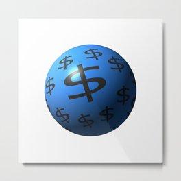 Dollar Sphere Metal Print