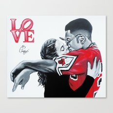 Black Love- Dwayne & Whitley Canvas Print
