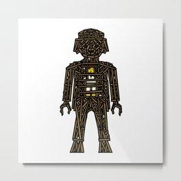 The Playmobil Wicker Man Metal Print