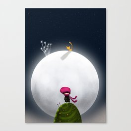 ...And the Moon Canvas Print