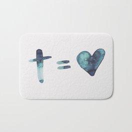 cross equals love Bath Mat