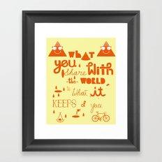 keeps of you Framed Art Print