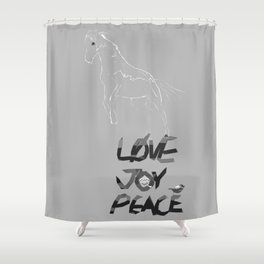 Love Joy & Peace Shower Curtain