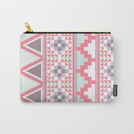Pink Aztec Quilt Carry-All Pouch