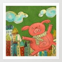 Piggy Pig Art Print
