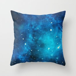 Galaxy sky space nebula stars universe cosmos Throw Pillow