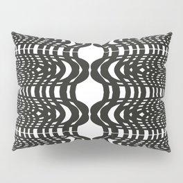 Black and White Swish Pillow Sham