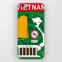 vietnam iPhone & iPod Skins featuring Vietnam Hanoi by Vintage Deco Print Posters