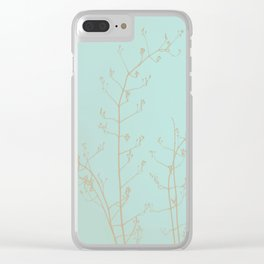 Choco Mint Jasmine Clear iPhone Case