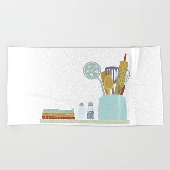 The Kitchen Shelf Beach Towel