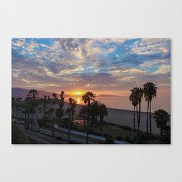 Big Blue Sunrise in Santa Barbara Canvas Print