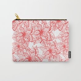 Poinsettia Christmas pattern Carry-All Pouch