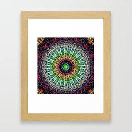 Colorful Vibrant Gypsy Mandala Framed Art Print
