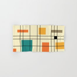 1950's Abstract Art Hand & Bath Towel