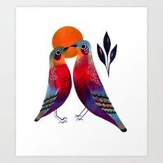 Sun Birds Art Print