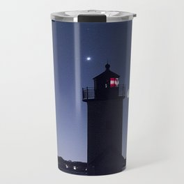 Moon Venus and the Annisquam Lighthouse Travel Mug