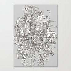 Interlocking Lives, Lines, and Transit Lanes Canvas Print