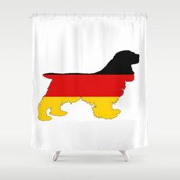 German Flag - Cocker Spaniel Shower Curtain
