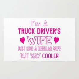Truck Driver's Wife Rug