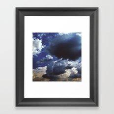 Clouds above Versailles Framed Art Print
