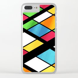 ISOMETRIC COLOR BOARD Clear iPhone Case