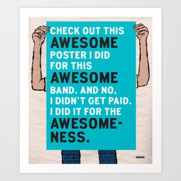 Check Out This Awesome Poster / I Drew This Thing Art Print