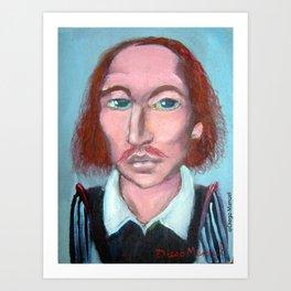 William shakespeare por Diego Manuel Art Print